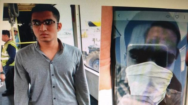 The youth, identified as Yog Vedan Poddar, had covered his face with a handkerchief and taken a picture.(HT Photo)