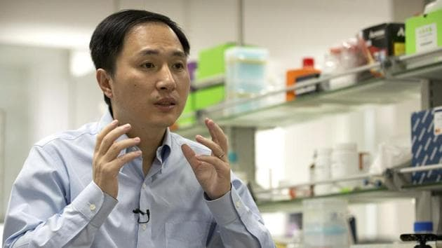 The Southern University of Science and Technology in the southern Chinese city of Shenzhen, where the scientist, He Jiankui, holds an associate professorship, said it had been unaware of the research project and that He had been on leave without pay since February.(AP Photo)
