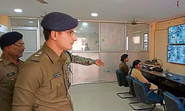 Purnia SP Vishal Sharma at his office(HT Photo)