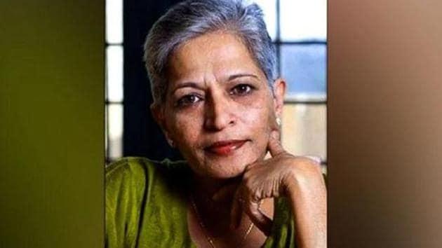 Gauri Lankesh, 55, known for her strong anti-Hindutva views was shot dead in Bengaluru on September 5 last year.(Burhaan Kinu/HT PHOTO)