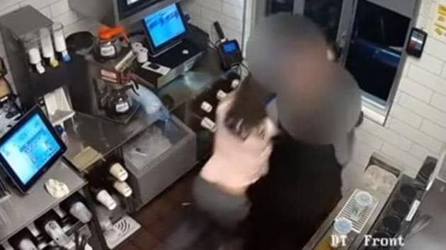 A California woman was behind bars on Wednesday for beating and choking a McDonald's manager after discovering there wasn't enough ketchup in her order, police said.(Youtube Screengrab)