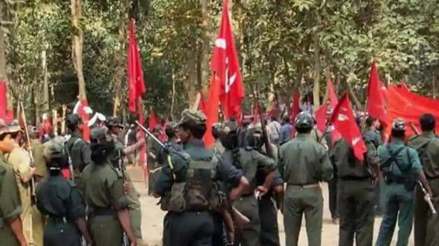 The file picture shows a gathering of Maoists during the CPI (Maoist)'s Ninth Congress in an undisclosed place in Chhattisgarh.(PTi File Photo)