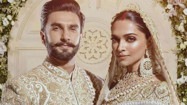 Deepika Padukone wore dazzling diamond jewellery at their wedding reception in Mumbai. (Instagram)