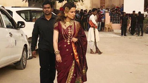 Actor Kangana Ranaut's Manikarnika's shoot was halted midway on Wednesday.