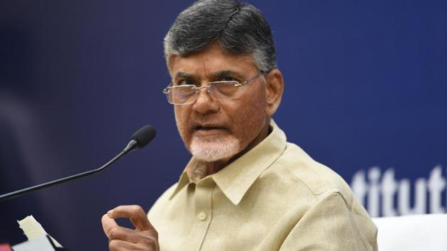 Andhra Pradesh chief minister N. Chandrababu Naidu today accused the Modi government of crushing freedom of expression and launching witch-hunts against political adversaries (File Photo)(HT PHOTO)