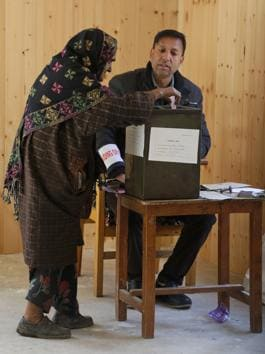 The polling began at 8 am and ended at 2 pm in 2,512 polling stations, including 1,743 stations in Jammu division and 769 in Kashmir division, Kabra said.(File Photo)