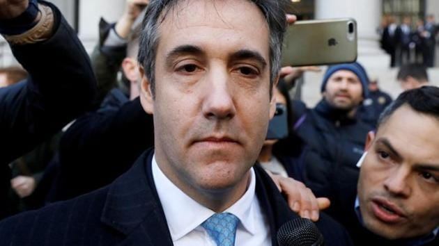 US President Donald Trump's former lawyer Michael Cohen exits Federal Court after entering a guilty plea in Manhattan, New York City on November 29, 2018.(REUTERS)