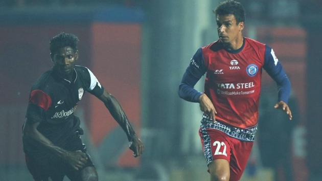 Jamshedpur FC and NorthEast United FC played out a goalless draw.(Twitter)
