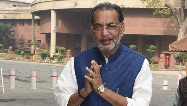 Union agriculture minister Radha Mohan Singh defended the track record of the Narendra Modi government and measures taken by it in the farm sector.(HT/File Photo)