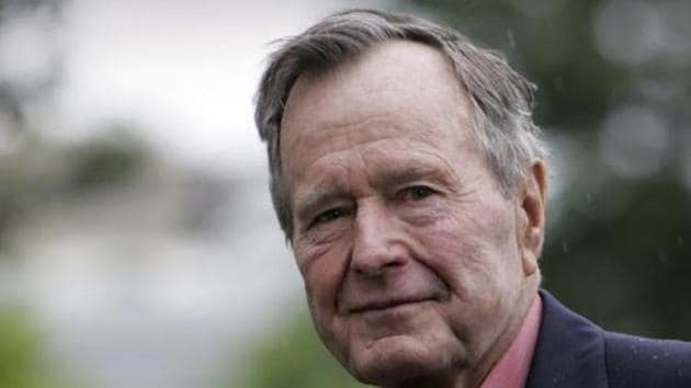 Former US president George HW Bush has died at age 94.(HT File Photo)