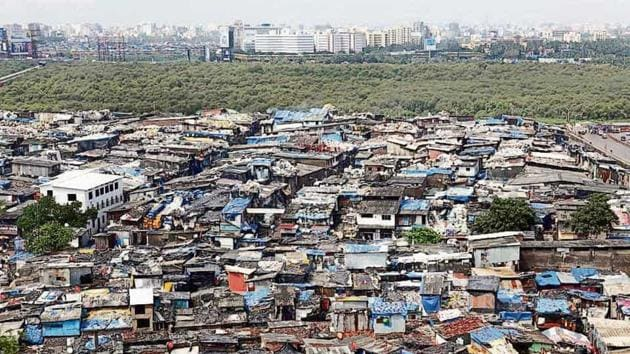 The most reliable figure on Dharavi's population is the number of slum units, which can be roughly estimated to the number of families that are eligible to receive a house in the Dharavi redevelopment project.(HT File)