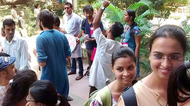 The Jawaharlal Nehru University (JNU) has decided to link the attendance of teachers with their salary disbursal.(HT File)
