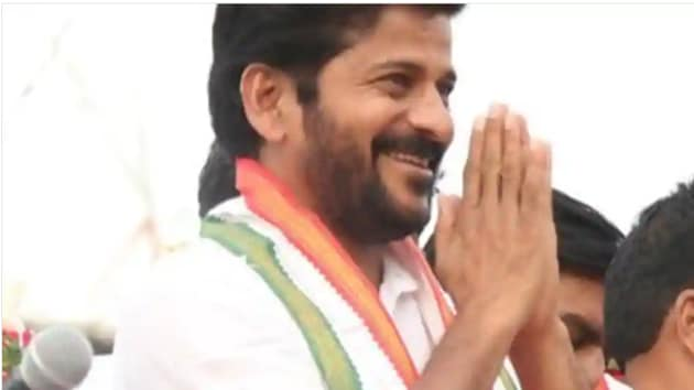 Telangana assembly elections 2018: Revanth Reddy, is contesting as a Congress candidate from Kodangal assembly constituency, and had had earlier called for a shutdown in the town to protest the alleged police raids on his associates to search for unaccounted money.(Revanth Reddy/Twitter Photo)