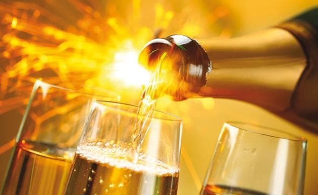 The very name of champagne is associated with celebrations, so champagne will always have a market(Shutterstock)