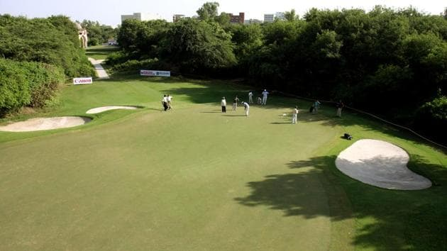 File photo of the Delhi Golf Club. The club had earlier denied the allegations of illegal cutting of trees on its premises.(HT Photo)