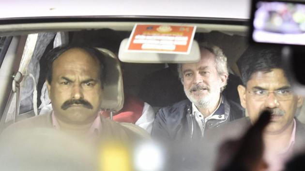 AgustaWestland chopper scam accused middleman Christian Michel will remain in CBI custody for 5 days, a Delhi Special Judge ordered on Wednesday on a request by the investigating agency.(AP)