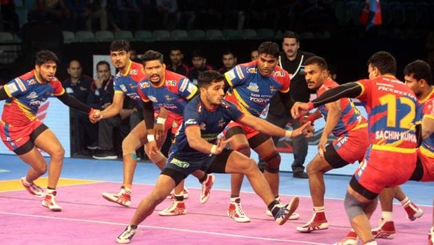 Haryana Steelers made a strong start and led for the majority of the first half. But Shrikant got three points for UP Yoddha with a super raid as UP Yoddha trailed 5-7.