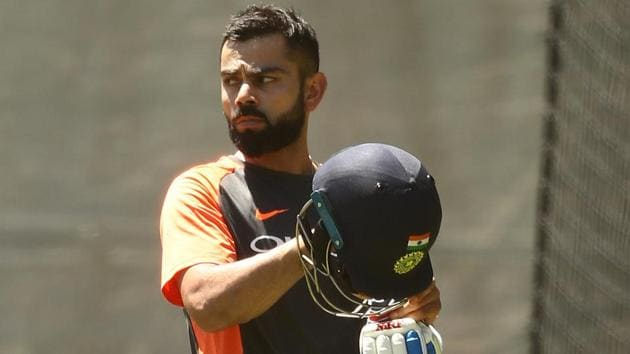 Virat Kohli of India trains during an India training session at Adelaide Oval on December 04, 2018 in Adelaide(Getty Images)