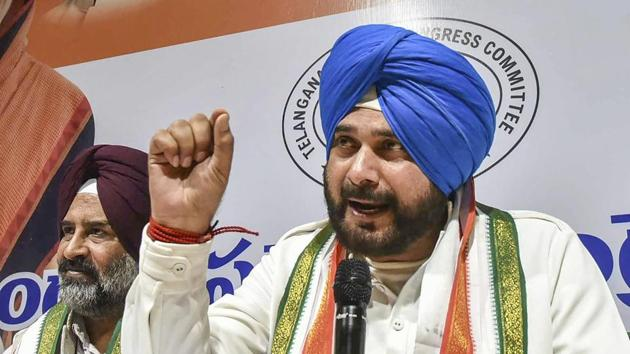 """Congress leader and Punjab minister Navjot Singh Sidhu has been advised bed rest for five days after an """"exhaustive"""" 17-day election campaign, a statement issued by his office said this morning.(PTI)"""