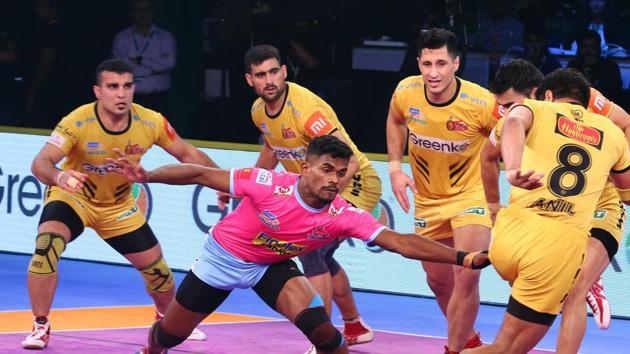 Telugu Titans are now third in the Zone B table.(Pro Kabaddi)