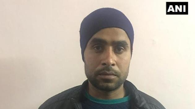 Jeetendra Malik alias Jeetu Fauji was arrested by the UP police after his unit based in Kashmir handed him over to the team investigating the killing of inspector Subodh Kumar Singh in the violence that broke out in Bulandshahr on Monday .(ANI/Twitter)