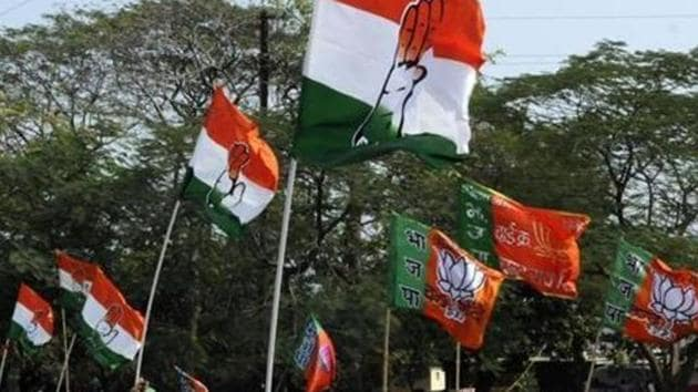 Madhya Pradesh election results 2018: Exit polls in the state have predicted a neck-and-neck fight between the BJP, which is targeting a fourth straight term in power, and the Congress, which is attempting to wrest power after 15 years.(HT File Photo)