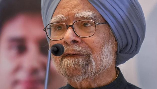 """Former prime minister Manmohan Singh alleged Monday the BJP-led central government was taking the country towards a """"wrong path"""" and the nation's freedom could be under threat due to its actions.(PTI File Photo)"""