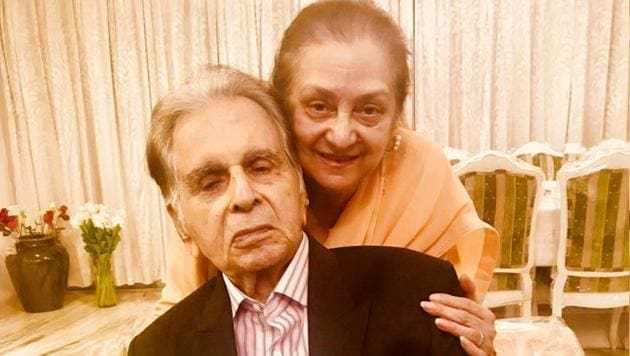 Actor Dilip Kumar and his wife Saira Banu will celebrate his birthday with close friends.(Twitter)