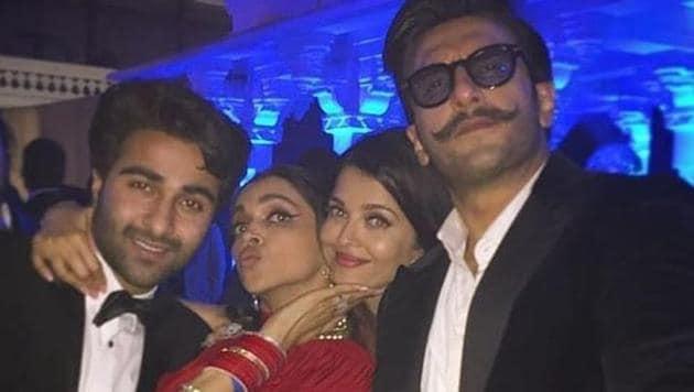 Aishwarya Rai and Deepika Padukone had a good time together at the Ambani party.