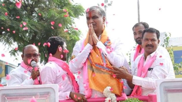 Telangana Election Results: T. Harish Rao, who was Irrigation Minister in KCR's cabinet.(Twitter/T. Harish Rao)