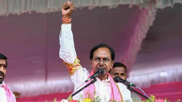 The one and only one factor that won the day for the TRS, appears to be the charisma of party president K Chandrasekhar Rao(PTI)
