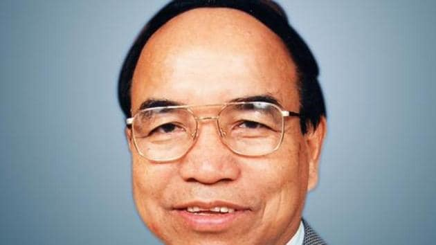 Mizo National Front chief Zoramthanga , whose party won a majority in the Mizoram assembly elections, dethroning the Congress from the last state it ruled in the northeast(File Photo)(HT)