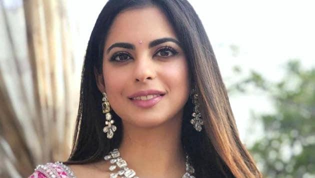 Isha Ambani looks beautiful as a bride. See pics of her pink sangeet lehenga by...