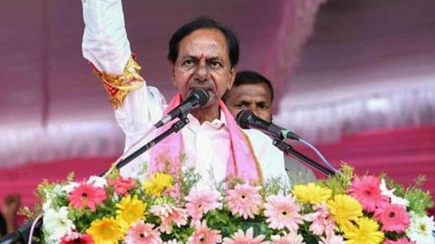 After big win in Telangana, TRS chief K Chandrashekar Rao will take oath tomorrow(PTI)