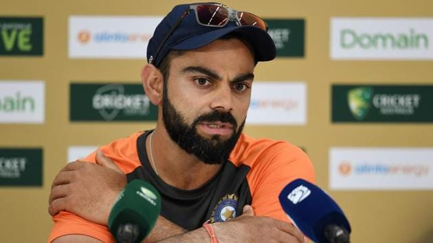 India's cricket captain Virat Kohli attends a press conference ahead of the second Test against Australia in Perth.(AFP)