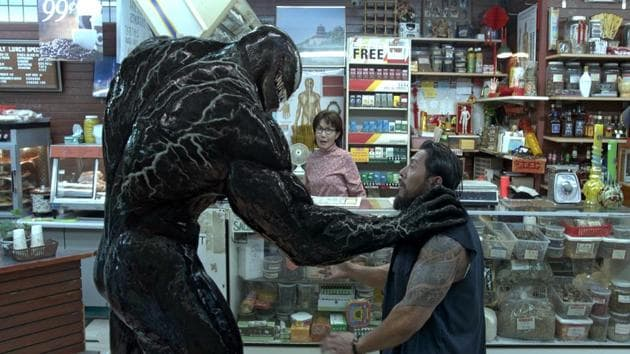 This image released by Sony Pictures shows a scene from Venom.(AP)