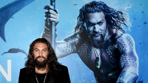 Jason Momoa arrives at the premiere of Warner Bros. Pictures' Aquaman at the Chinese Theatre in Los Angeles, California.(AFP)