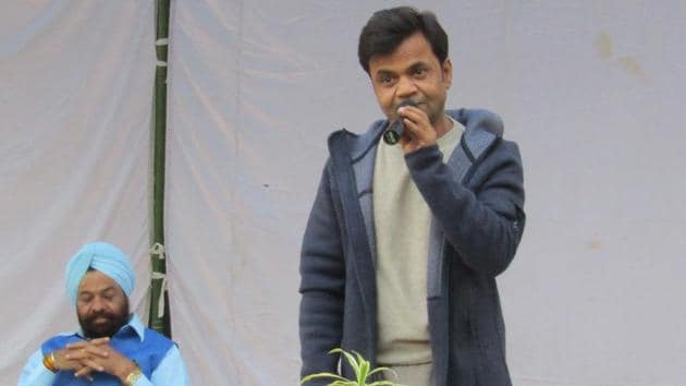 Actor Rajpal Yadav is serving a three-month jail sentence in Tihar jail. He performed during a cultural programme held for the prison inmates last Friday.(HT Photo)