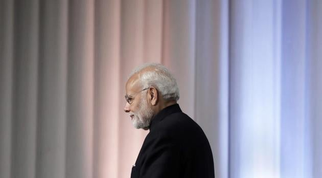 Narendra Modi in Japan on Oct. 29, 2018. Modi's trip to Japan in 2016 -- which came immediately after he eliminated 86 per cent of India's currency, sending millions into bank queues to exchange cash -- led to accusations by the opposition that he was traveling the world while ordinary Indians were struggling.(Bloomberg)