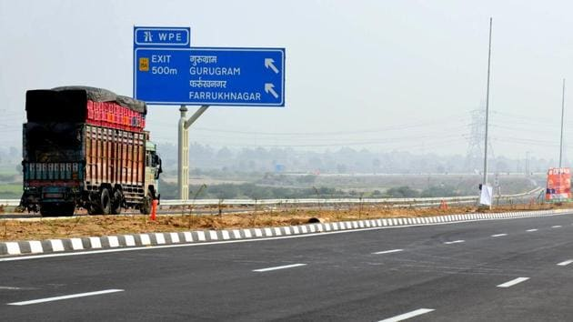 The Kundli-manesar section of the Western Peripheral Expressway opened on November 19.(Parveen Kumar / HT Photo)