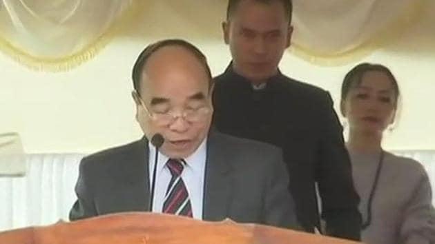 Mizo National Front (MNF) leader Zoramthanga was on Saturday sworn in as Mizoram's new chief minister.(ANI)