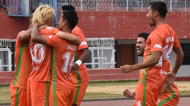 Neroca FC defeated Churchill Brothers in their I-League encounter.(AIFF)