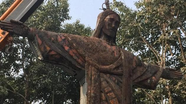 A statue of Christ the Redeemer at the SDMC park(HT Photo)