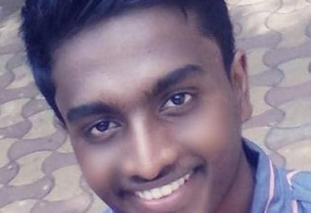 Jibin Sunny, 19, was a nursing student.(Praful Gangurde/ HT)