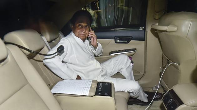Madhya Pradesh chief minister-designate Kamal Nath raised suspicion on EVMs.(PTI/File Photo)