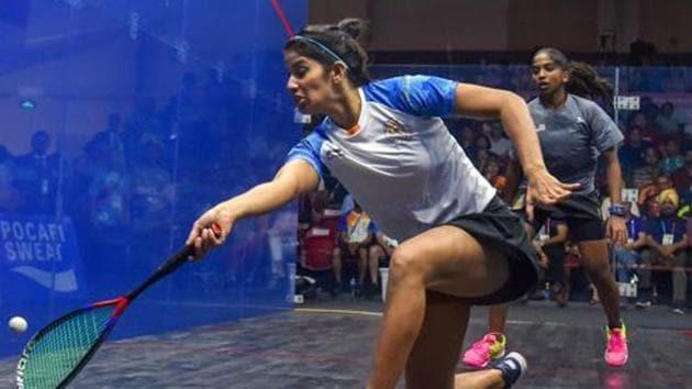 Joshna Chinappa equalled Bhuvneshwari Kumari's record of 16 national titles.(PTI)