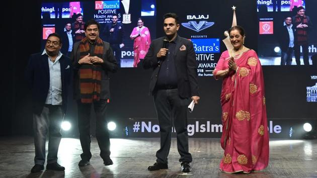 Actor-turned-politician Shatrughan Sinha was the chief guest at the award ceremony.(Dr Batra's)