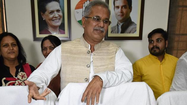 Hailing from the influential Kurmi community, which accounts for around 14 per cent of Chhattisgarh's population of around 2.5 crore, Bhupesh Baghel, 57, is known for his political acumen with strong leadership qualities.(Arijit Sen/HT Photo)
