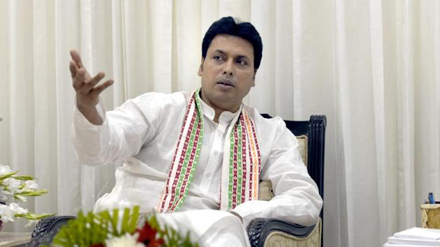 Lynch mobs are not part of indigenous Indian culture but came into being in India only because of the influence of Communists and Pakistan, Tripura chief minister, Biplab Deb said on Monday.(Sushil Kumar/HT File PHOTO)