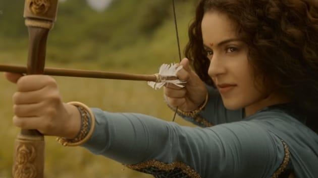Kangana Ranaut in a still from the Manikarnika trailer.